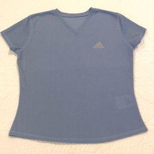 ADIDAS Running Shirt Light Blue Size Small